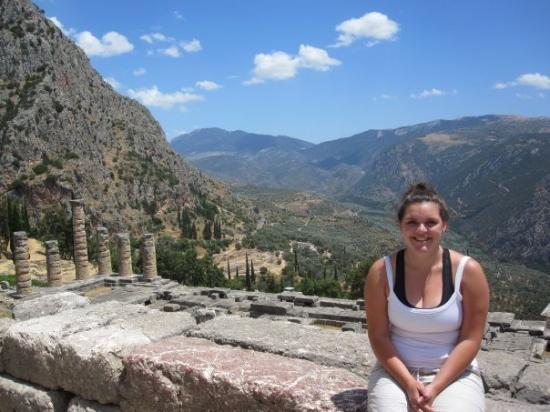 Delphi, Greece (temple of Apollo where the pillars are)