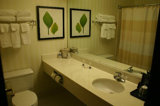 Fairfield Inn Mankato: two queen room wash room