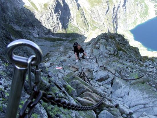Tatra National Park, بولندا: climbing Rysy
