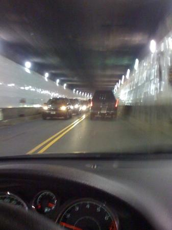 Detroit-Windsor Tunnel: Driving through the Det/Windsor Tunnel. Very narrow and a long waiting time.