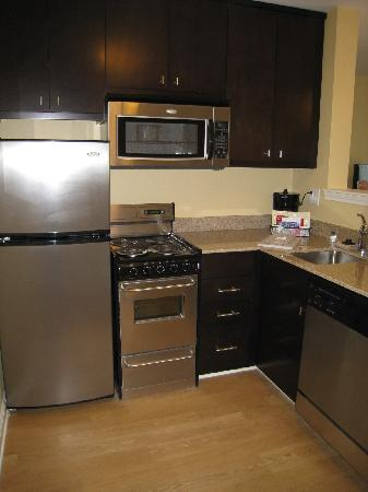 TownePlace Suites Fayetteville Cross Creek: kitchenette of the 2 bedroom suite