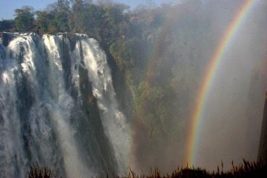 Shearwater Victoria Falls - Bungee, Bridge Tours and Activities: amazing falls and multiple rainbow!