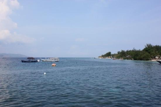view from the jetty at Gili Trawangan