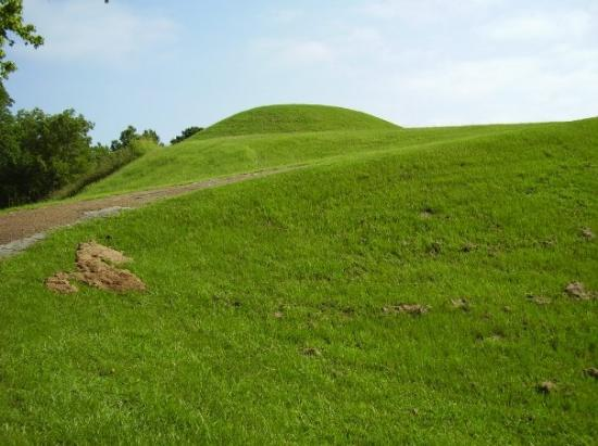 Native American burial mounds off Natchez Trace Parkway in Mississippi
