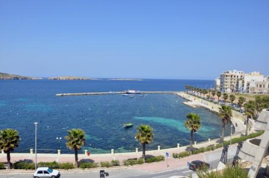 Bugibba, Malta: view from my hotel
