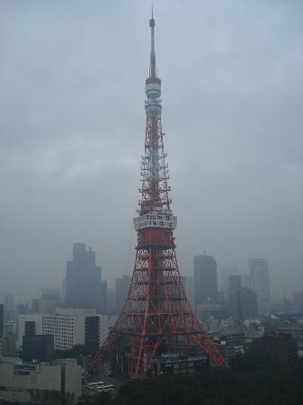 โรงแรมเดอะปรินท์ พาร์ค โตเกียว: View of the tower from the grounds surrounding