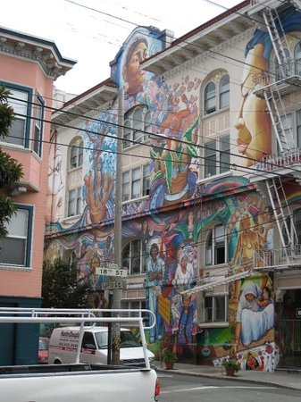 The side of the Women's building in the Mission district