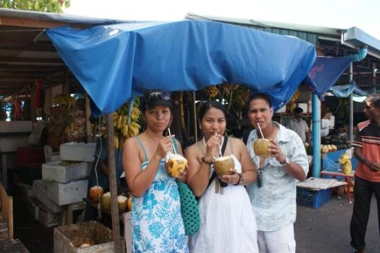 Male Local Market: buko juice soo refreshing after a long walk