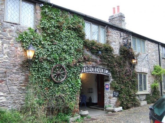 The Old Forge, a 600-year-old former blacksmithy, now a B&B. Lovely place to stay. Totnes, Devon