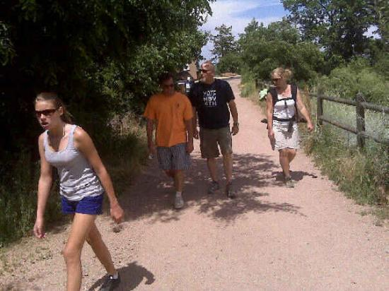 Hiking the Enchanted Mesa trail, Boulder, Colorado