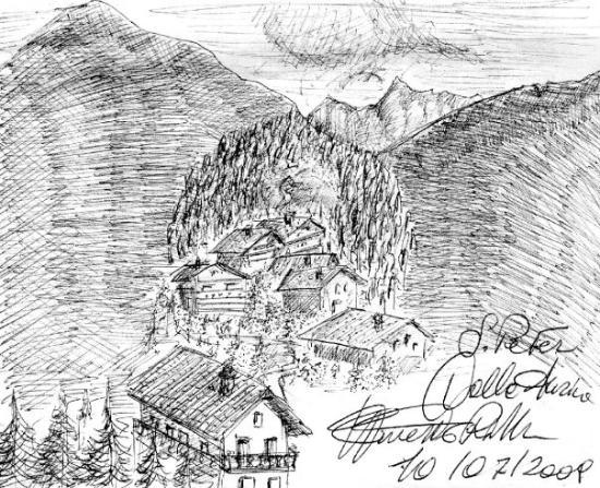 Valle Aurina, Italy: Panorama dal bosco