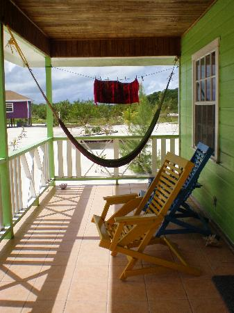 Coco Plum Island Resort: Front porch of our cabana