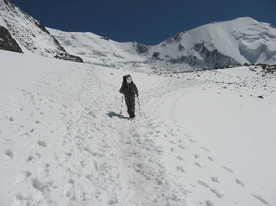 Le Refuge des Aiglons: Finally reaching the snow