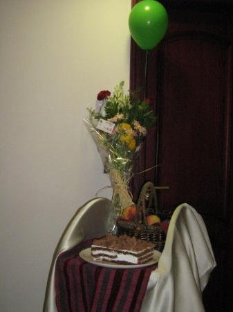 Blue Tower Hotel: Reason : Birthday Cake, Fruits and Flowers from Mum and Dad.