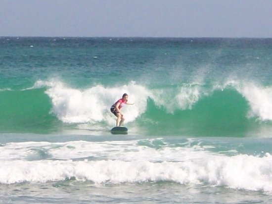 Boosy's Surf School: Me surfing at South Point, Barbados