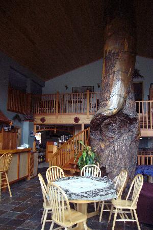 Glenogle Mountain Lodge & Spa : Lodge's main lounge area