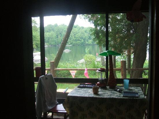 Cochran's Cabins: View from the screened in porch