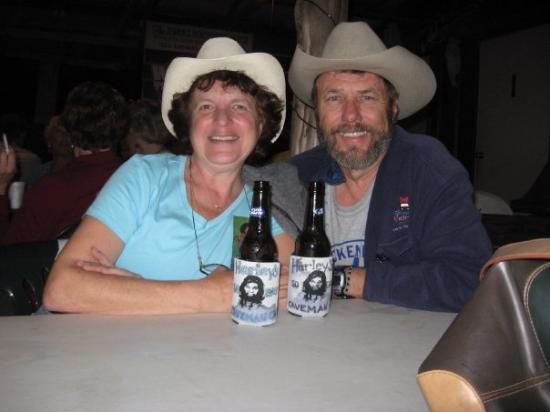Bayview, TX: Kathy and Will at Harley's