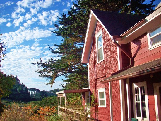 Jughandle Creek Farm and Nature Center: The farmhouse - Jughandle Creek Farm, Mendocino coast, Caspa,r California
