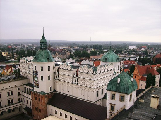 Szczecin, Polen: View from tower over castle