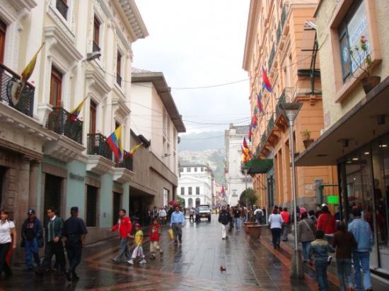 Quito, Ecuador: rue du centre historique