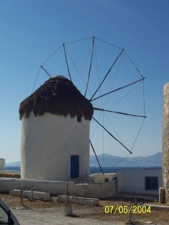 Agricultural Museum and Boni Windmill: Windmill in Mykonos, Greece.