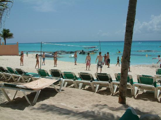 Hotel Riu Playacar: La plage