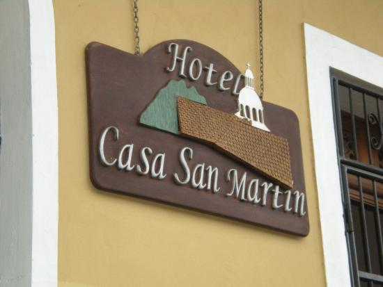 Casa San Martin: Front