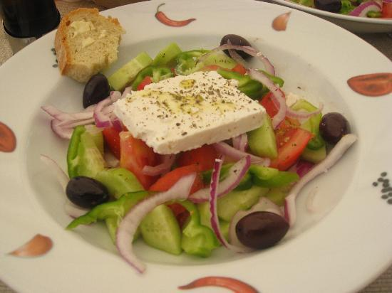 Anassa Hotel: Hercules Greek Salad yummy!!
