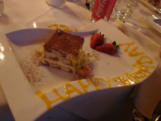 Alpina Hotel: One of the puddings - absolutely delicious!