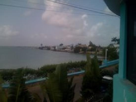 The Sea Breeze Hotel: View of Corozal Town and the Sea from The Sea Breeze