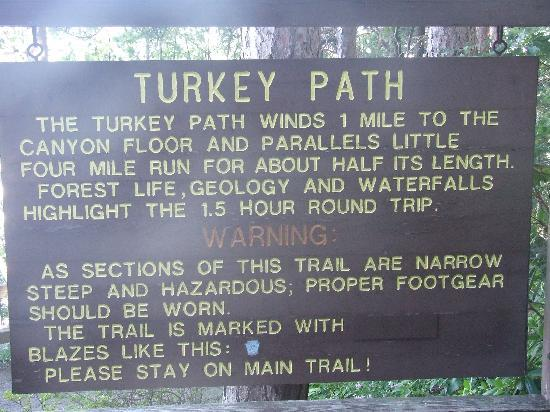 Pine Creek Gorge: Description of Turkey Path