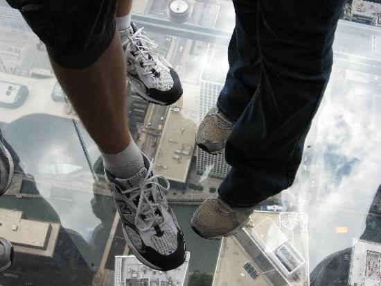 Chicago, IL: see through floor in Sears Tower