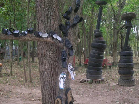 Calvert City, KY: Shoe and tire trees