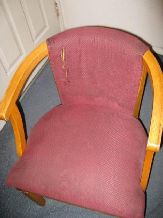 Travelodge Crescent City: Disgusting chair