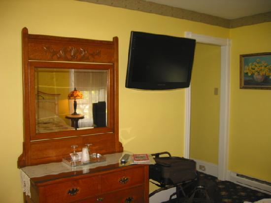 Albert Stevens Inn: Flat screen tv in Golden Bud Suite
