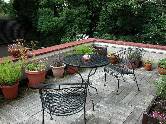 Morningstar Inn Bed and Breakfast: The Parapet patio