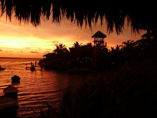 La Cruz de Loreto, Meksika:                                     coucher de soleil vu de notre terrasse