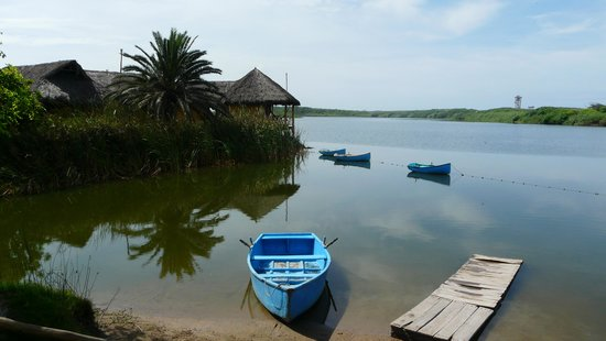 Hotelito Desconocido:                                     barque dans laquelle le personnel nous faisait traverser ent