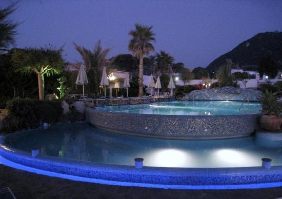 Hotel Tritone Wellness Center: piscina esterna di notte