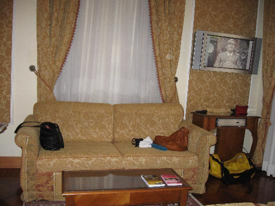 Villa Morgagni: the sofa in the room