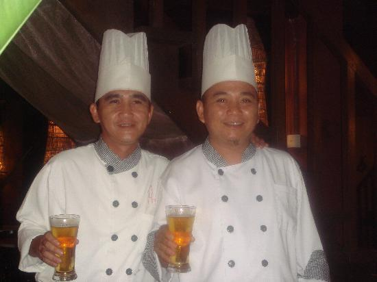 The Village House: The two brilliant chefs!