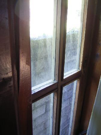 Sea Breeze Cafe : dirty windows facing drain wall