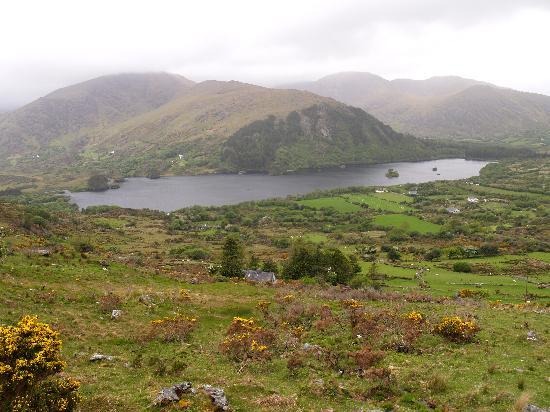 Adrigole, Irlanda: Glanmore Lake from the Healy Pass road