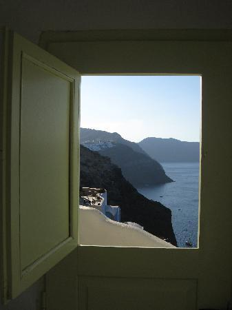 The view from the hole in our door - Room #5