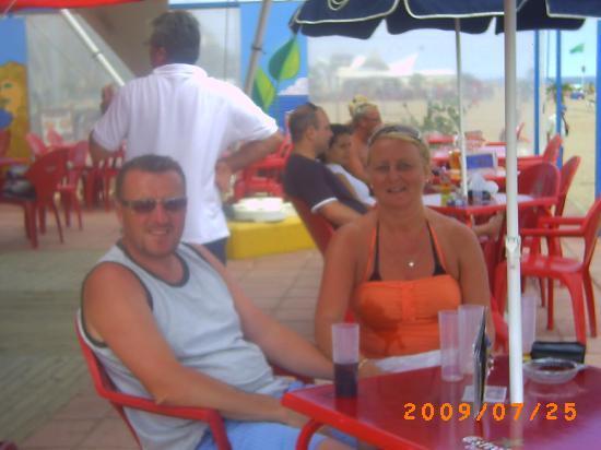 H·TOP Calella Palace & SPA: beach bar belonging to hotel