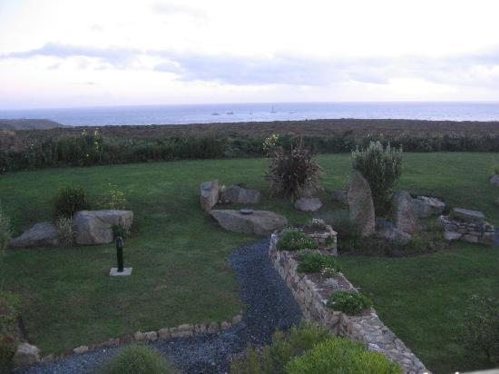 Longships Watch : View to Longships lighthouse from twin bedroom