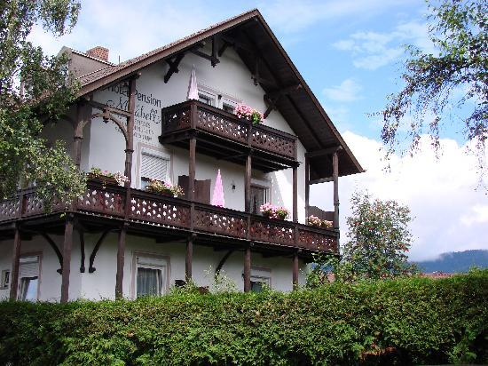 Pension Mirabell : Uppermost balcony belongs to mini-apartment/suite