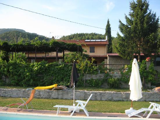 Agriturismo Selvapiana : parte della struttura vista dalla piscina