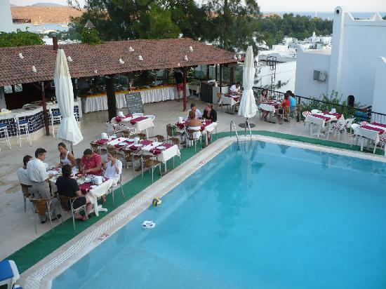 Hotel Jarra : Pool and bar from our balcony